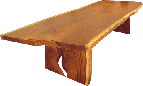 ... Made Of Solid Wood Slab Table Top And Base. The Base Are Position  Outward To Harvest Maximum Degree Of Stability. This Extensive Robust Form  Clearly ...